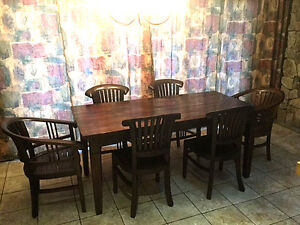 Solid Wood Rustic Dining Set