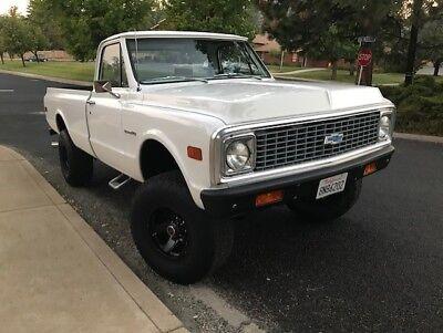 1972 Chevrolet C-10  1972 Chevrolet K10 6.5L turbo diesel pickup