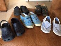 5 pairs of boys shoes size 11 - Superga, Crocs etc
