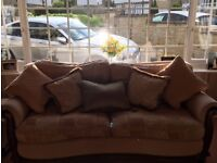 Handmade Suite comprising of 1 armchair, 3/4 seater, 2 seater settee and a footstool