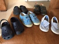 5 pairs of boys shoes size 11 - Superga, Crocs etc