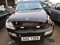 2005 Ssangyong rexton, 2.7 diesel, for parts only, all parts available