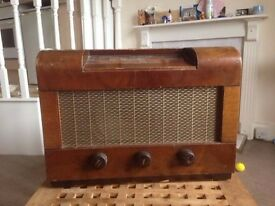 1940'S HMV Vintage Retro Valve Radio.. Working Order!!