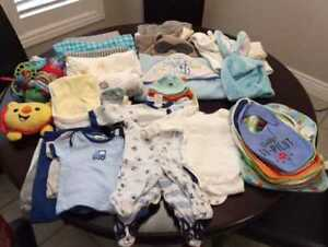 Gently Used Infant Clothing 0-3 Months Lot One