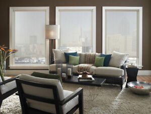 Manual+Automated UV Protection Flame Retardation Roller Blinds
