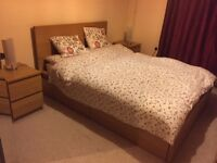 2 , 2 seater sofas +1 Malm Ikea king size bed with Mattress