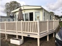 2 Bedroom Luxury Link Lodge with Decking on Highfield Grange Holiday Park