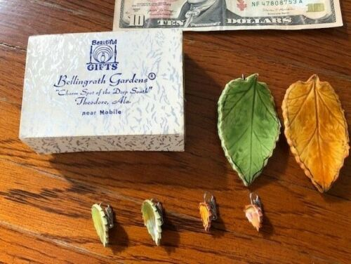 Autumn Leaves Clip On Earrings & Brooch X2 - 6 pcs - Bellingrath Gardens, AL