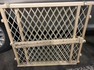 NEW PET BABY FENCE GATE WOOD