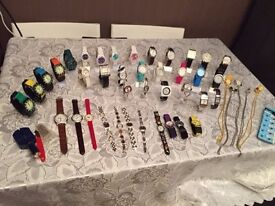 New watches, tools and stands. 127 items in total