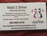 Maid 2 Shine Cleaning Services - Midland & Surrounding Area