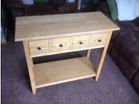 JOHN LEWIS SIDE TABLE VERY SOLID , SIZE 40CM X 94CM X 80CM TALL