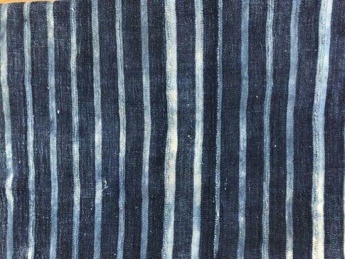 "Antique Hand Woven & Dyed Textile INDIGO MUD CLOTH Mali  Africa 50"" X 31""  #A2"