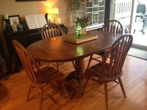 Solid Wood Dining Room Kitchen Table And Chairs