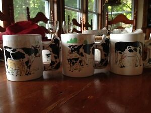 4 Mugs & 2 Bowls (Cow Theme)