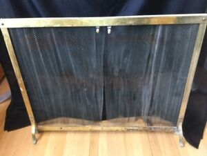 Vintage Fireplace Screen / Ember Deflector