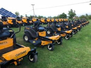 Cub Cadet Central!  We have the full line up SET UP and ready for delivery!  0% Financing Available for up to 36 months!
