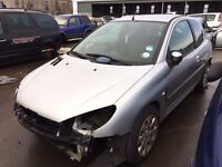 2005 Peugeot 206, 1.4 petrol, for parts only, all parts available