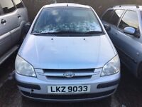 2004 Hyundai getz, 1.1 petrol, breaking for parts only, all parts available