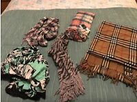 5 new/nearly new scarves