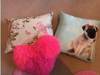 3 lovely cushions for girl's room
