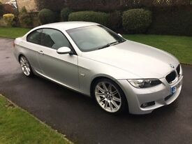 BMW 320i M Sport Coupe Full Service History, Silver 2008 Plate, 4 owners, Very clean car.