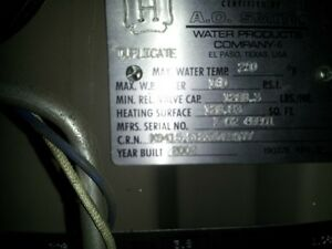 Hot Water Boiler For Sale A.O. Smith $1500 Like New