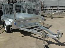 TRAILER 7x5  WITH CAGE & SPARE WHEEL HOT DIP GAL Maroochydore Maroochydore Area Preview