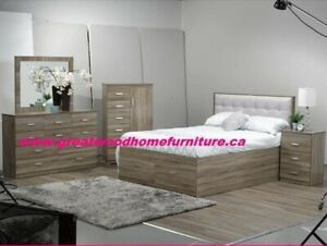 BRAND NEW 6 PC QUEEN STORAGE BED FOR SALE $899
