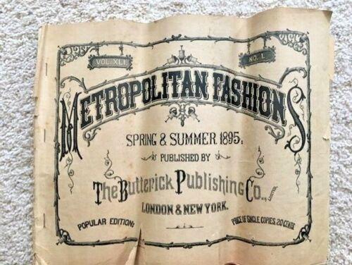 Antique VTG 1895 Butterick Metropolitan Fashions Spring Summer Catalog