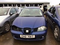 2003 Seat ibiza, 1.9 diesel, for parts only, all parts available