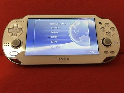 USED PS Playstation vita Wi-Fi model CRISTAL WHITE PCH-1000 ZA02 F/S Japan