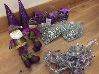 Purple & Silver Christmas Decorations
