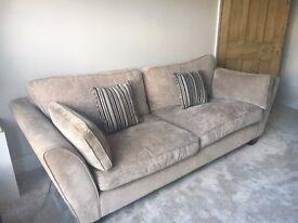 Stone Colour Sofa - Great Condition