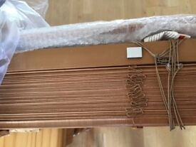 Wooden Venetian blind medium oak colour 111cm width, 99cm drop