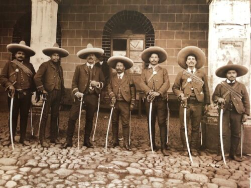 Mexican Revolution  Federal Rural Soldiers Vintage Photo 16x20