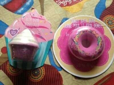 DONUT / CUPCAKE BATH BOMBS ( 2 ITEMS ) Cupcake Bath Bombs