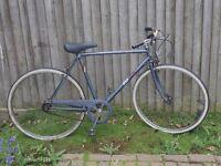 Vintage blue BSA bicycle
