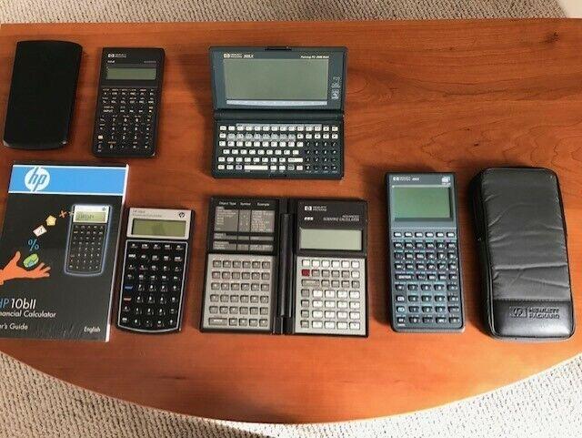 Hewlett Packard HP 200LX Palmtop Calculator lot LOOK