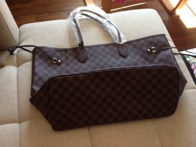 922136e6abf0 Louis Vuitton Neverfull Leather new comes with dust bag