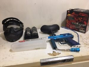 Iconx paintball gun and all accessories