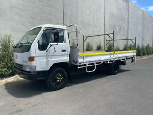 1999 TOYOTA DYNA TRAY TRUCK  104,938 KM'S  UHF  Drop Sides  Tail Gate lifter  3 Seater  Power Steeri Bell Park Geelong City Preview