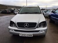2003 Mercedes ML 270, 2.7 diesel, for parts only, all parts available
