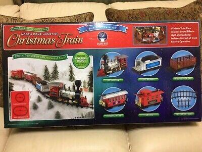 Train Set North Pole Junction Christmas Train Blue Hat Toy 20' Track Light Sound