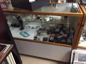Display Case  for store Glass and Wood