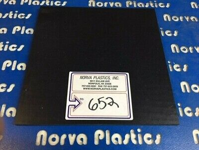 """(652) UHMW BLACK REPRO 1/2"""" THICK 12"""" X 12""""  for sale  Shipping to Canada"""