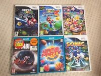 6 Nintendo Wii U / Wii Games - Boxed with Instructions in Perfect Condition