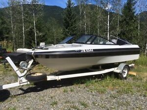 1991 Great Shape 17ft  Reinell Bowrider with Shorerider Trailer