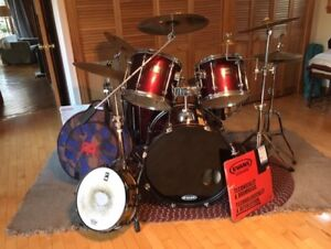 """Mapex """"mars series"""" drum kit with many extras"""