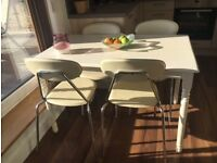 Kitchen Table and Chairs White